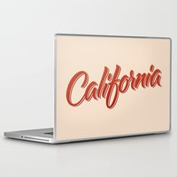california Laptop & iPad Skins featuring California by mavgraphic