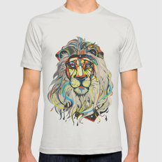 The Lion  Mens Fitted Tee Silver SMALL