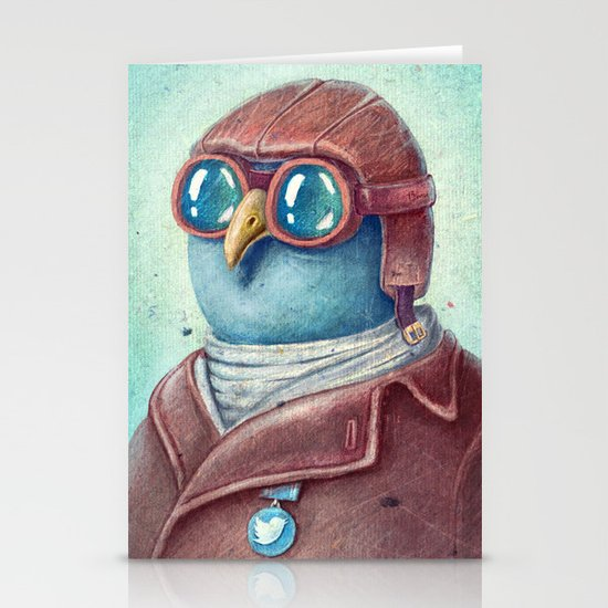 Pilot Captain Ivan Twittor Stationery Card