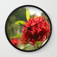 Crimson Focus Wall Clock