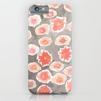 Watercolor flowers pink and gray by robayre iPhone 6 Slim Case