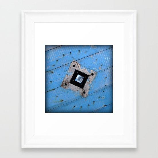 Industrial Blues Framed Art Print