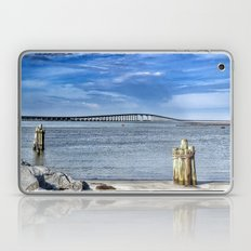 Bridge to sand and sea Laptop & iPad Skin