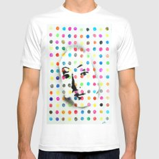 VENUS IN HIRSTIAN DOTS SMALL White Mens Fitted Tee