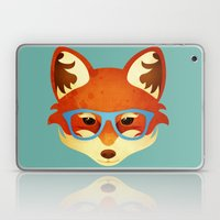 Hipster Fox Laptop & iPad Skin
