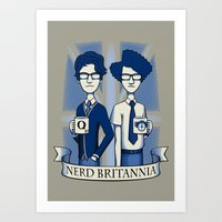 Nerd Britannia Art Print