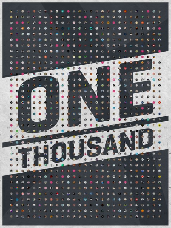 One Thousand Art Print