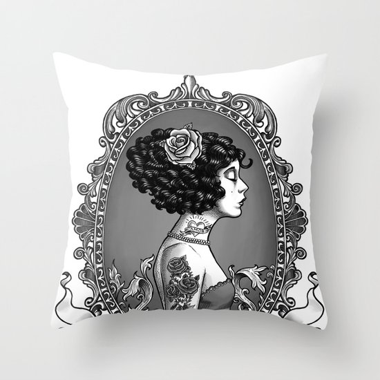 Menina Roza Throw Pillow