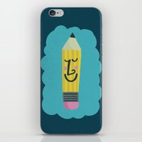 FRIENDLY PENCIL iPhone & iPod Skin