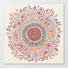 Sunflower Mandala Canvas Print