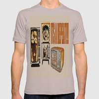 Throw away your television  Mens Fitted Tee Cinder SMALL