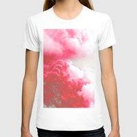 Pink Explosion Womens Fitted Tee White SMALL