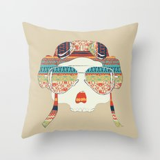 Retro Aviator Throw Pillow