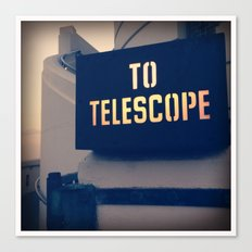 To The Telescope Canvas Print