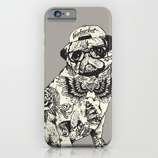 Pug tattoo iphone ipod case by huebucket society6 for Tattoo artist iphone cases