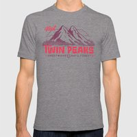Visit Twin Peaks Mens Fitted Tee Tri-Grey SMALL