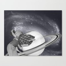 FLY ME TO THE SATURN Canvas Print