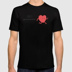 Follow the Heart Mens Fitted Tee Black SMALL