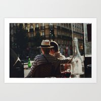 Lovers In Paris Art Print