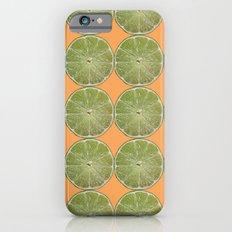 Lime Fruit Photo Print iPhone 6s Slim Case