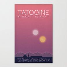 Star Wars Tatooine Canvas Print