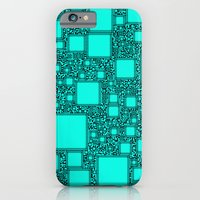 iPhone & iPod Case featuring Electronics Blue by Alice Gosling