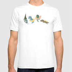 Jurassic babes Mens Fitted Tee White SMALL