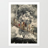 The Eruption... Art Print