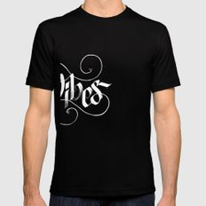 Vibes SMALL Black Mens Fitted Tee