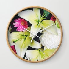 Flowers Galore Wall Clock