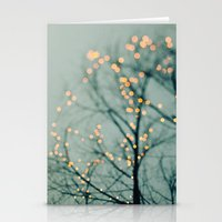 lights Stationery Cards featuring Lights  by Laura Ruth