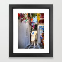Greece Santorini Island Framed Art Print