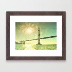 Golden... Framed Art Print