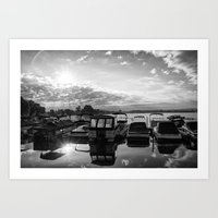 Sunrise at the Pier , Canandaigua Lake Art Print