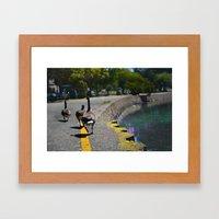Lake Merrit Geese Framed Art Print
