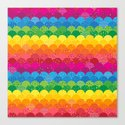 Waves of Rainbows Canvas Print
