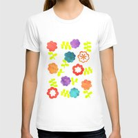 Daisy Dallop II Womens Fitted Tee White SMALL