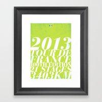 2013 Tour De France: Spr… Framed Art Print