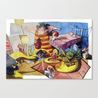 Friends´s meeting Canvas Print