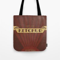 Fancy Ketchup Tote Bag