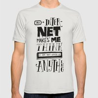 Internet Envy Mens Fitted Tee Silver SMALL