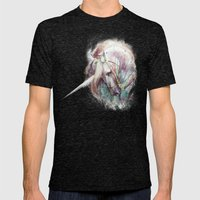 Unicorn Mens Fitted Tee Tri-Black SMALL