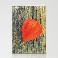 Orange Fall Stationery Cards