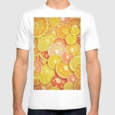 Juicy Fruits White Mens Fitted Tee SMALL