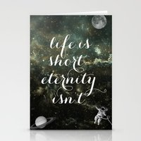 Vintage Quotes Collection -- Life Is Short Eternity Isn't Stationery Cards