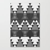 Aztec Grey Canvas Print