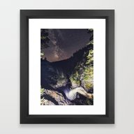Framed Art Print featuring Falling Into Orbit by Shaun Lowe