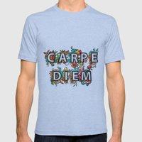 Carpe Diem Mens Fitted Tee Tri-Blue SMALL