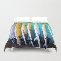 surfboards Duvet Cover