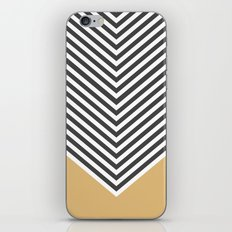 Gold Chevron iPhone & iPod Skin